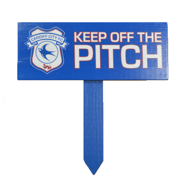 KEEP OFF PITCH SIGN