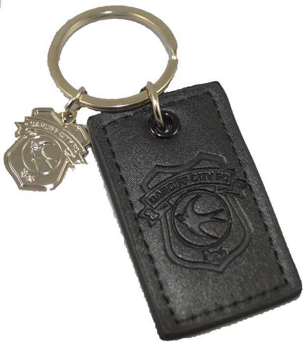 LEATHER CHARM KEYRING